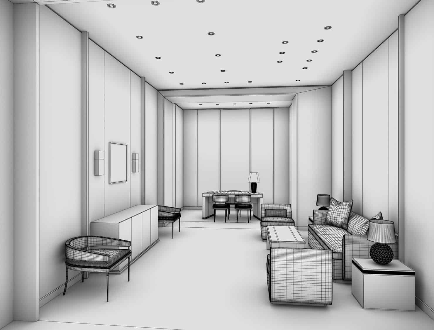 Tiffany & Co. Jewelry Store Lounge Wireframe