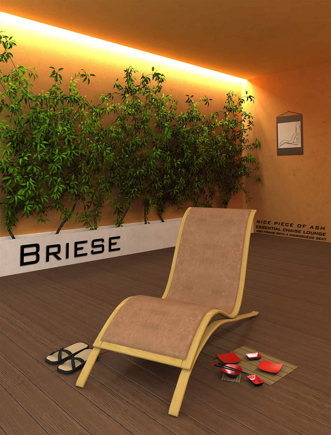 essential chaise lounge render