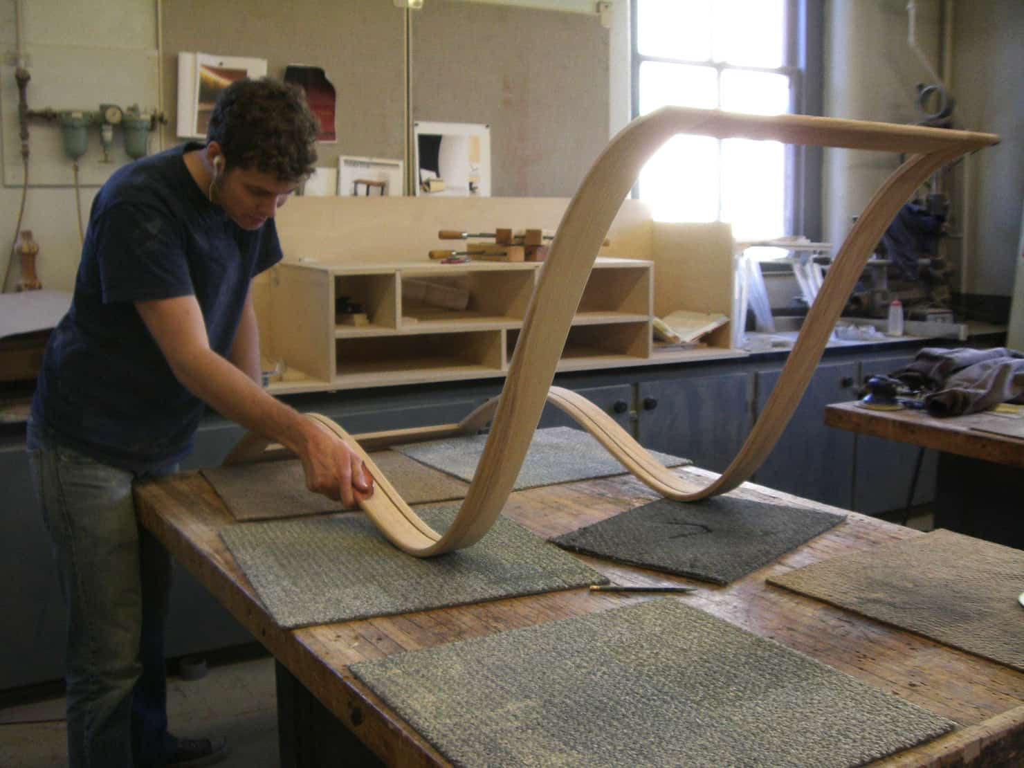 essential chaise lounge hand sanding